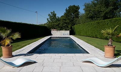 Traditional Rectangular Pool. Shaped Swimming Pool